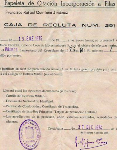 01-08c.- Destino: El BIR número 1 ¿Y eso dónde está? Documento: Rafa Quintana. 1974.