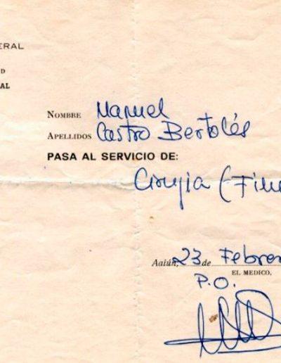06-12a.- Sin duda, una experiencia inolvidable. Documento: Manuel Castro. El Aaiún, 1974-1975