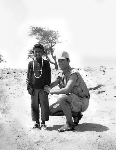 07-07.- Retrato con guayete Foto: Felipe Galán. Zona de Smara, 1974-1975