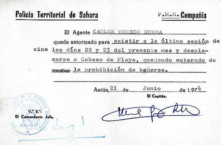 04-08c.- Mínimas distracciones y algunas prohibidas. Documento: Carlos Orozco. El Aaiún, 1973-1974