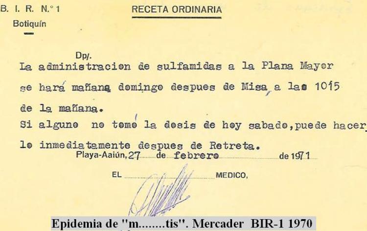 06-12b.- Sobrevivir a las epidemias. Documento: José María Mercader. El BIR, 1970