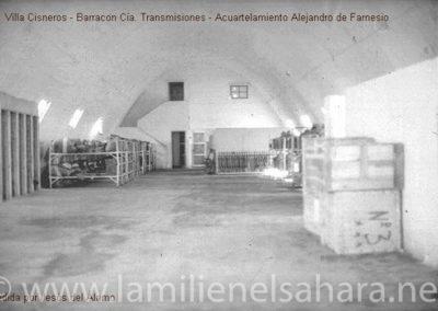 016.- Villa Cisneros, Cuartel A. de Farnesio, Barracón Transmisiones.