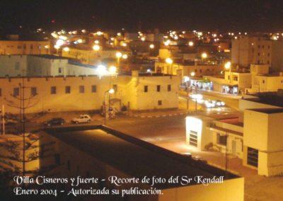 001.- Villa Cisneros, Recientes. Visón nocturna del Fuerte.