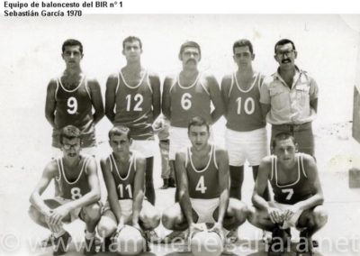 055.- BIR 1, Equipo de baloncesto, 1970.