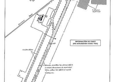 053.- El Aaiún, Plano del Aeropuerto.
