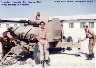 """013.- Pieza antiaérea de defensa """"Olmos"""" Bofors 40/70."""