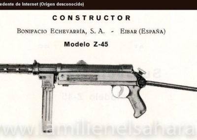 002.- Subfusil Z45.